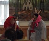 今年度は、「赤ずきんちゃん~ばんちょう物語~」と題して、職員による劇を行いました。
