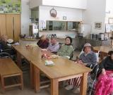 鮫川村の手まめ館で食事をしてきました。 いつもと違う食事に皆さまにこにこです。