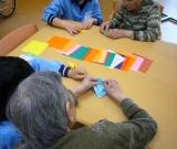 北上中3年生の皆さんと折り紙